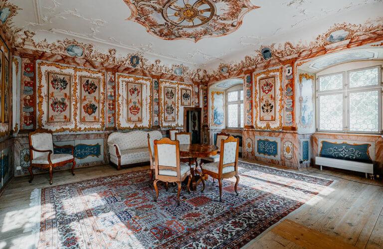 Historische barocke Räume im Kloster Fischingen
