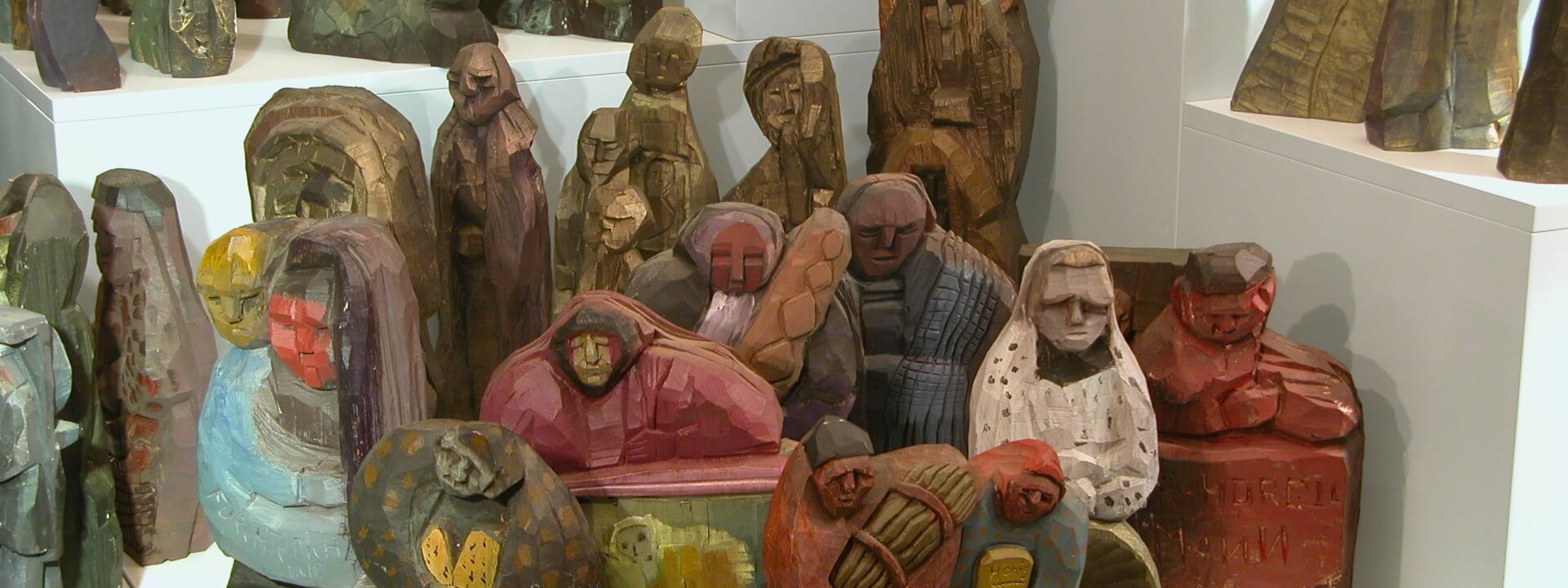 Krippenspiel Ueliger Holzfiguren